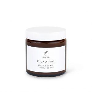 Soyoosh świeca sojowa EUCALYPTUS 120 ml